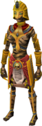 Ancient mummy outfit equipped (female)