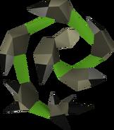 Chicote abissal (verde) detalhe