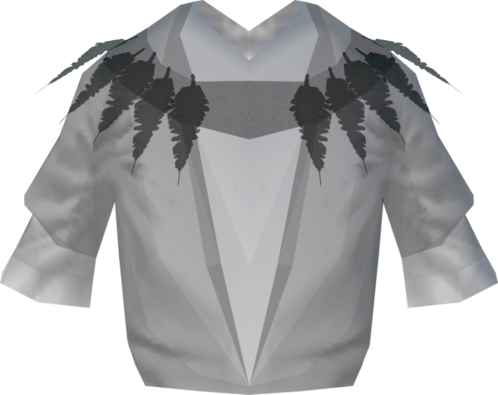 Ghostly druid robe top detail