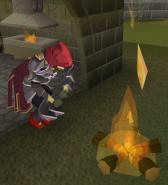 Max treinando arte do fogo