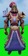 Ocean's Mage outfit equipped