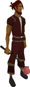 Rosethorn wand equipped