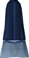 Colonist's skirt (blue) detail