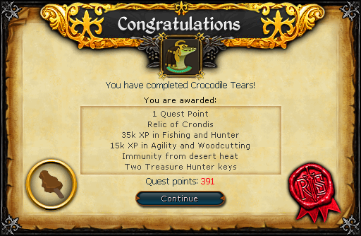 Crocodile Tears reward