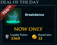 Deal of the Day lobby banner