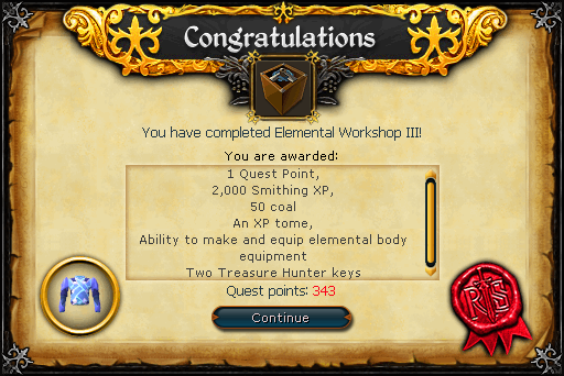 Elemental Workshop III reward
