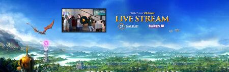Gameblast livestream banner