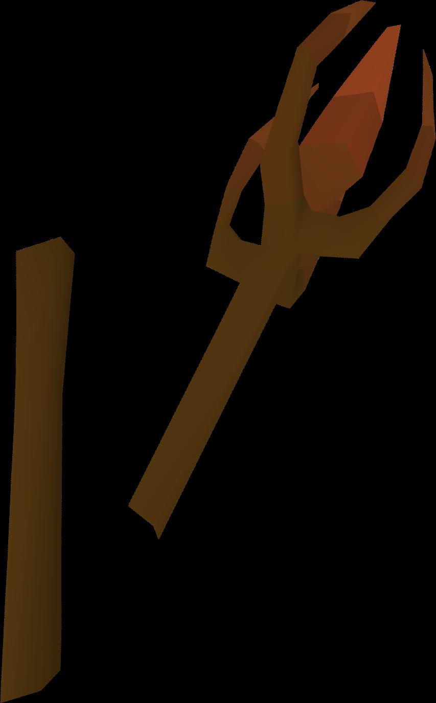 Iban's staff (broken) detail