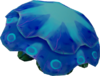Raw blue blubber jellyfish detail