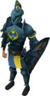 Rune heraldic armour set 3 (lg) equipped
