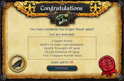 Dragon Slayer reward