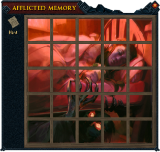 Afflicted memory puzzle completed