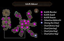 H.A.M. Hideout map
