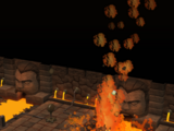 Lava geyser