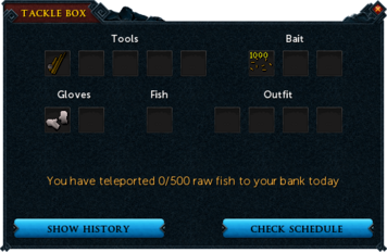 Tackle box interface