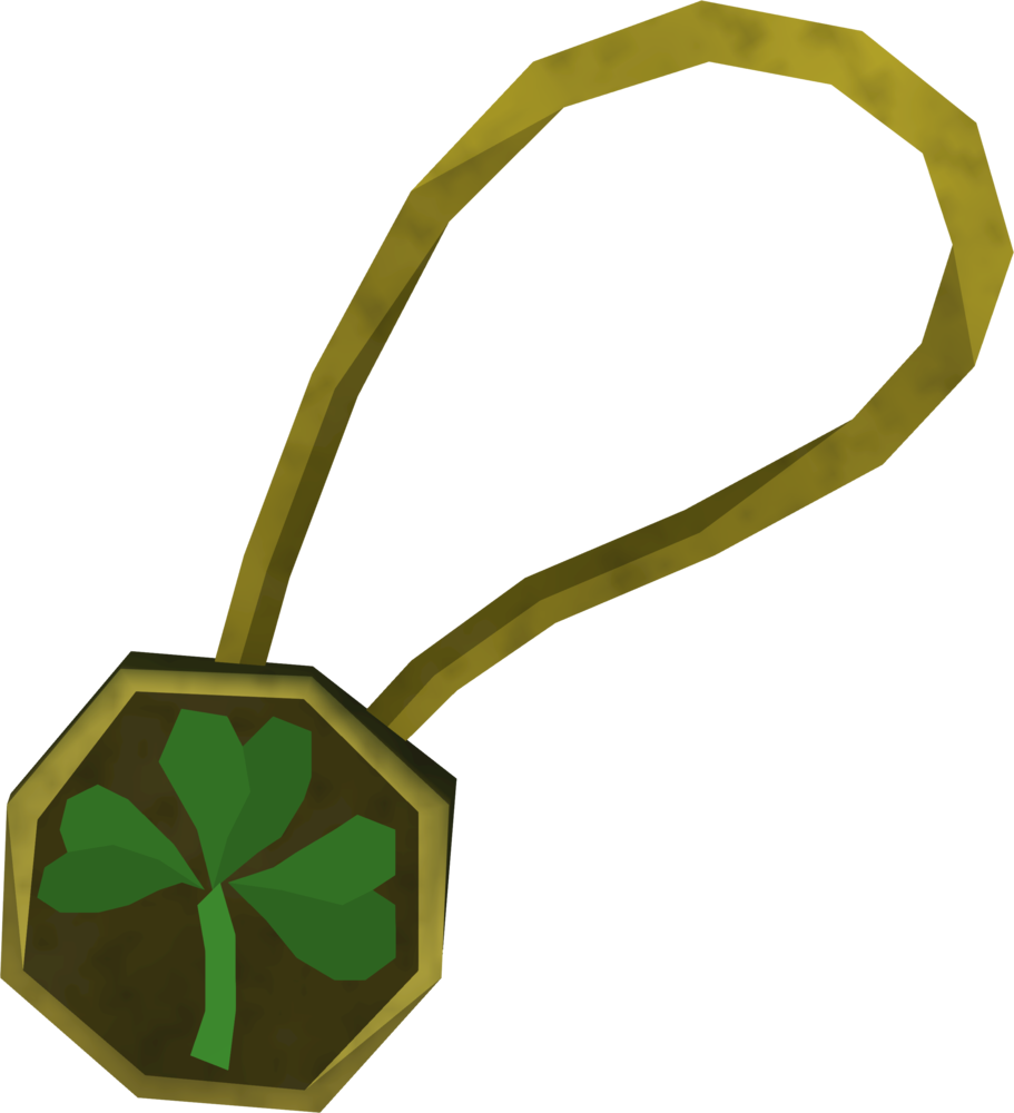 Three-leaf clover necklace detail