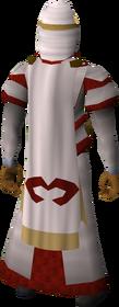 Zamorak cloak equipped