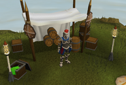 Battlemaster in Santa hat