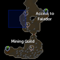 Dwarven Mine hidden mine entrance location.png