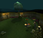 Fighting the Dramen tree spirit