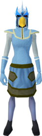 Mighty slayer helmet (cf) (blue) equipped
