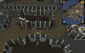 Scan clue Fremennik Isles Jatizso between two buildings with anvils
