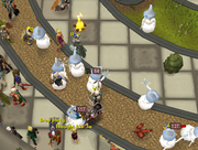 Snow mages at the Grand Exchange