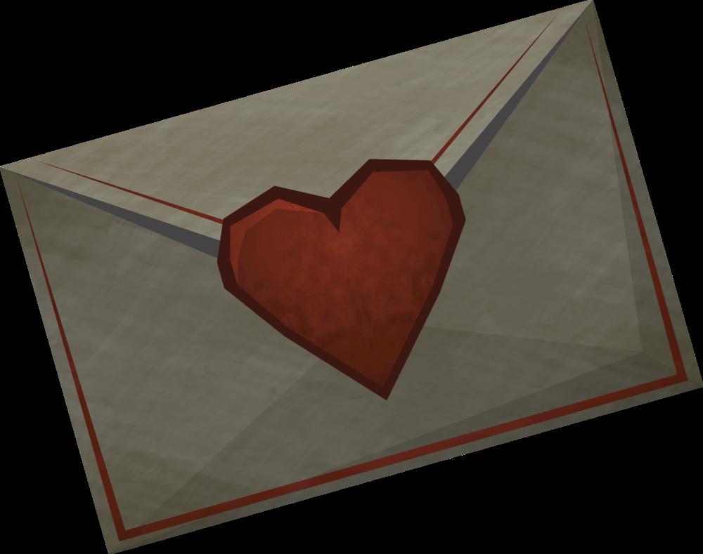 Valentine love note detail