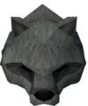 Werewolf mask (grey, female) detail