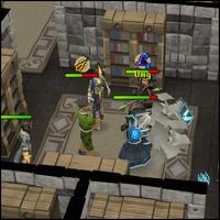 Jogadores treinando dungeon
