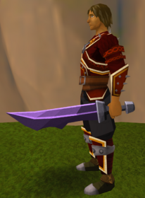 Off-hand mithril ceremonial sword V equipped