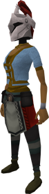 Rune heraldic helm (Kandarin) equipped