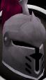 Steel heraldic helm (Dragon) chathead