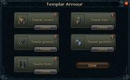 Templar armour claim