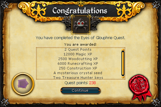 The Eyes of Glouphrie reward