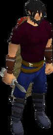 Dagger (class 5) equipped
