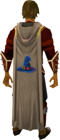 Hooded magic cape equipped