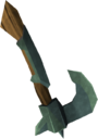 Off-hand adamant throwing axe detail