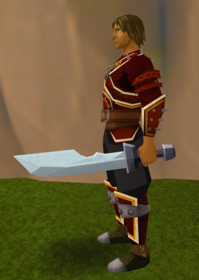 Off-hand steel ceremonial sword II equipped