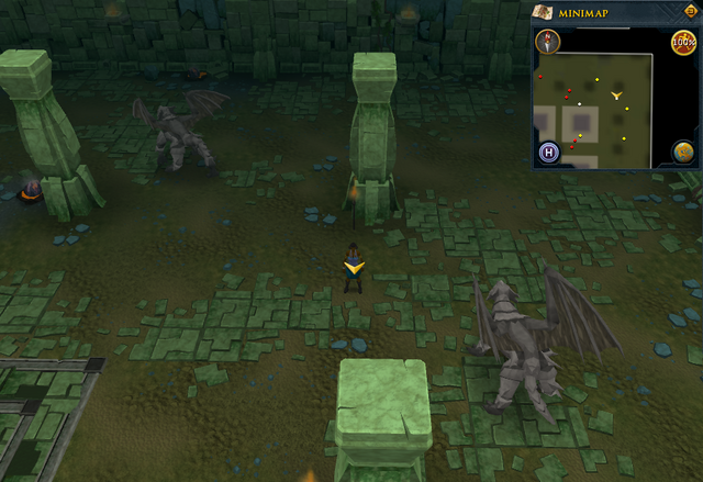 File:Scan clue Brimhaven Dungeon lower level north-east corner of the chamber containing iron and steel dragons.png