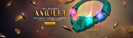 Alchemists Amulet last chance head banner