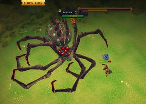 Araxxor's swipe attack