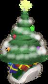 Christmas tree hat detail