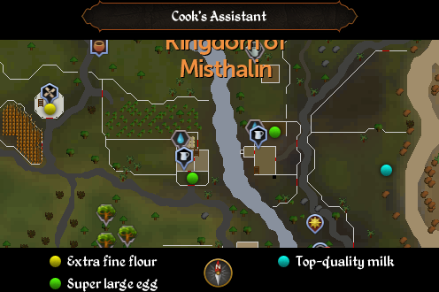 Cook's Assistant map