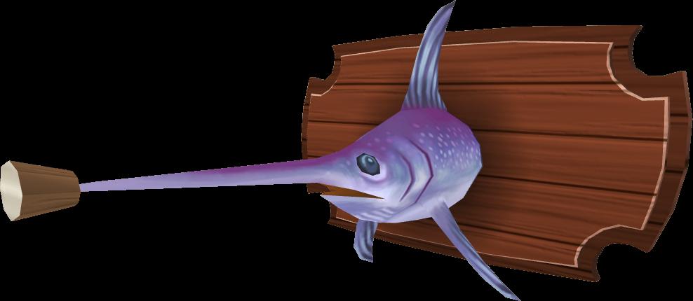 image mounted swordfish built png runescape wiki fandom