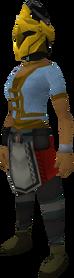 Rune heraldic helm (Varrock) equipped