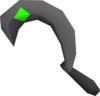 Silver sickle emerald (b) detail