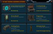 Start Room Modifications