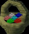 Basket of eggs detail
