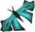 Blue soporith moth detail